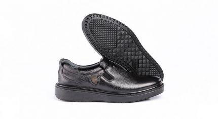 کفش کلاسیک مدل دیپلمات بدون بند مشکی