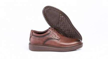 کفش کلاسیک مدل دیپلمات عسلی