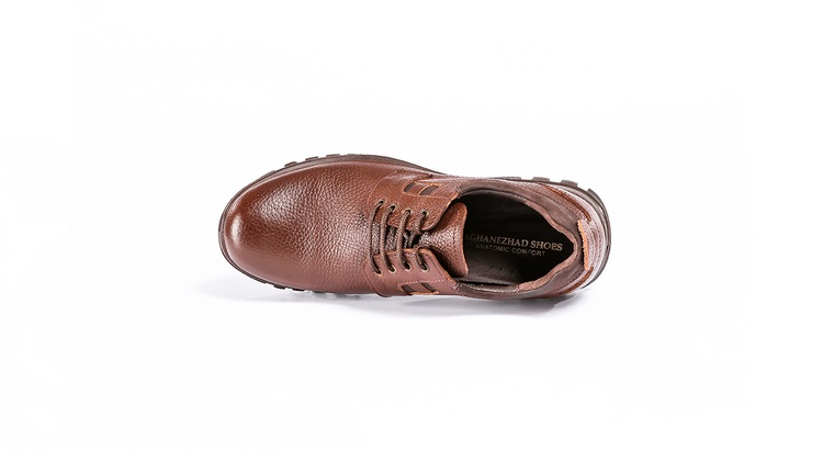 کفش طبی مردانه مدل ورنا قهوه ای