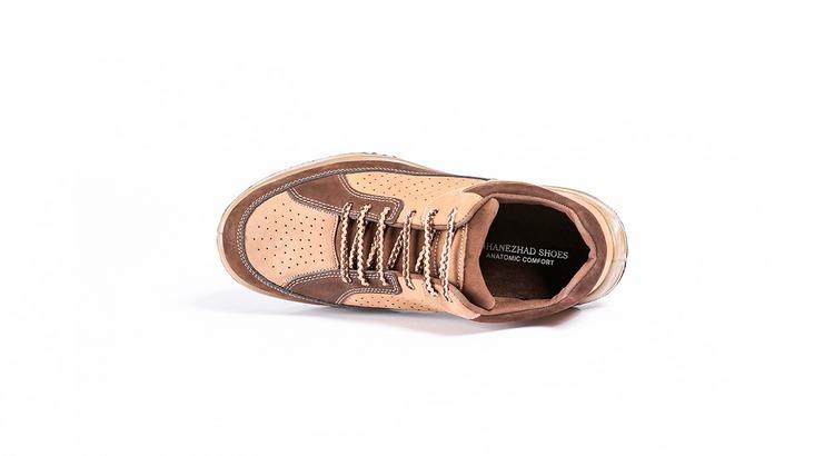 کفش ورزشی مردانه کرمی قهوه ای