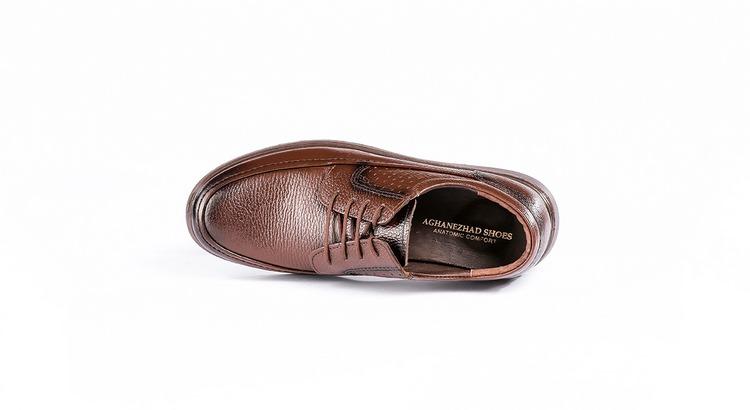 کفش طبی مردانه مدل کلارک بنددار قهوه ای