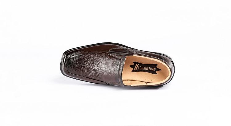 کفش طبی مردانه مدل ساعتی قهوه ای