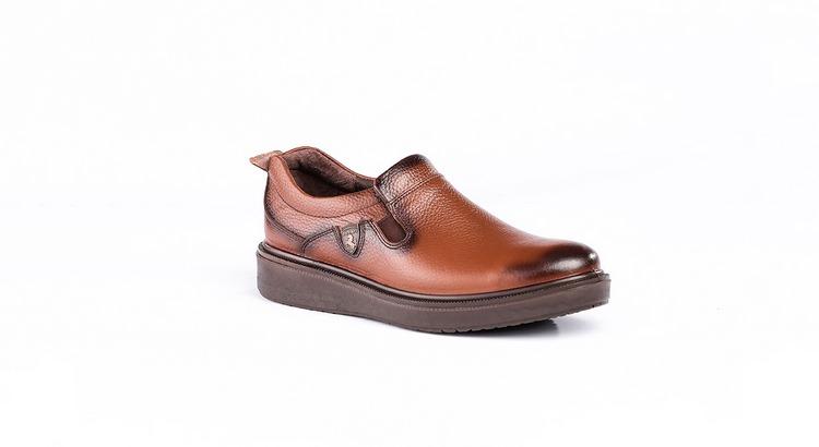 کفش کلاسیک مدل دیپلمات بدون بند عسلی