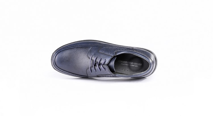 کفش طبی مردانه مدل کلارک سرمه ای